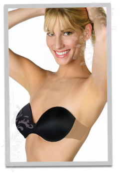 9bc4c4185b46d Extreme silicone plunge Backless   Strapless Bra with underwire and  graduated padding for natural-looking enhancement. The support bra for backless  and ...
