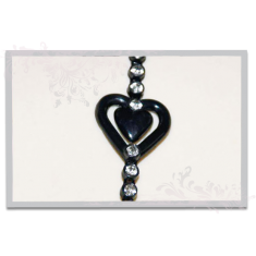 Rhinestone Strap With Heart Design